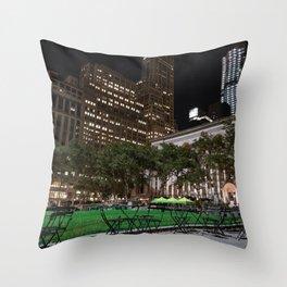 Bryant Park New York Throw Pillow