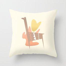 Animal abstract / South America Throw Pillow