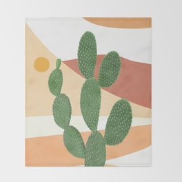 Abstract Cactus II Throw Blanket