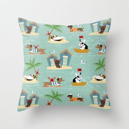 The Ultimate Dog Vacation pattern Throw Pillow