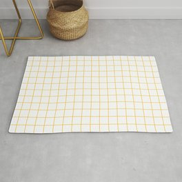 Grid White Yellow Rug