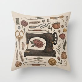 Sewing Collection Throw Pillow
