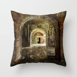 Through the Arches - Fort Morgan, AL Throw Pillow
