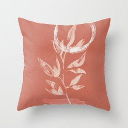 Sunrise flower step boho illustration Throw Pillow