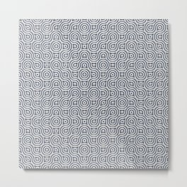 Silver Truchet Tilling Metal Print