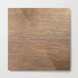 Rustic brown gold wood texture Metal Print