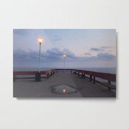 Lonely Pier Metal Print