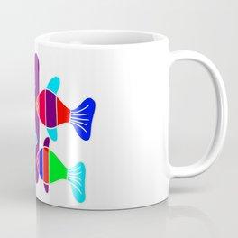 4 Fish - White lines Coffee Mug