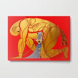 """Art Deco Design """"Samson & Delilah"""" Metal Print"""