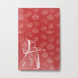 Queen of Hearts and Crowns Metal Print
