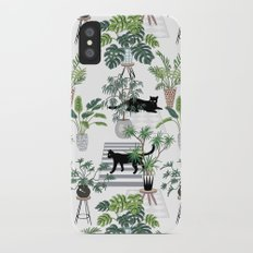 cats in the interior pattern iPhone X Slim Case