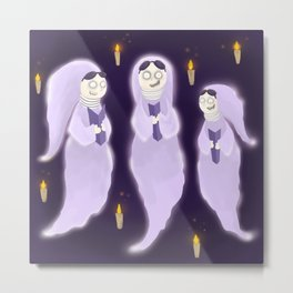 Creepy Carolers Metal Print