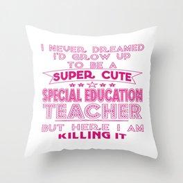 Super Cute Special Education Teacher Throw Pillow