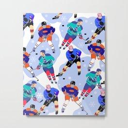 Ice Hockey print 001 Metal Print