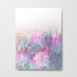 Magical Nature - Glitch Pink & Blue Metal Print