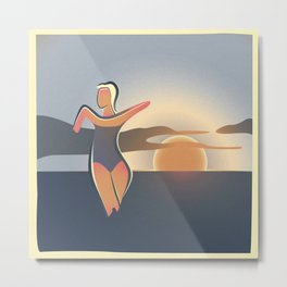 Figurina at the beach Metal Print
