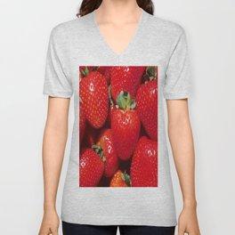 Garden Strawberries Unisex V-Neck