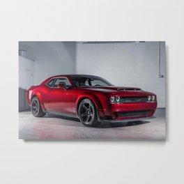 Candy Apple Red Challenger SRT Demon MOPAR Muscle Car Metal Print