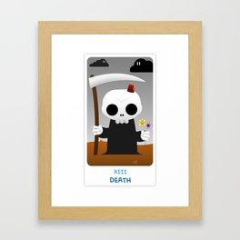The Chibi Tarot - XIII Death Framed Art Print