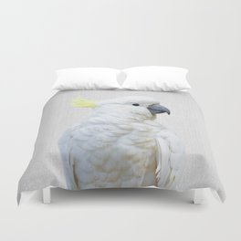 White Cockatoo - Colorful Duvet Cover