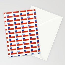 Flag of Chile 3-Spanish,Chile,chilean,chileno,chilena,Santiago,Valparaiso,Andes,Neruda. Stationery Cards