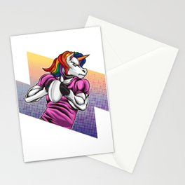 Rugby Unicorn - Rainbow Rugby Team Stationery Cards