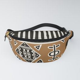 African mud cloth with elephants Fanny Pack