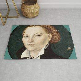 """Lucas Cranach the Elder """"Katharina von Bora"""" Rug"""