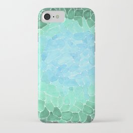Abstract Sea Glass iPhone Case