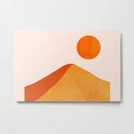 Abstraction_Mountains_SUN_Minimalism_01 Metal Print