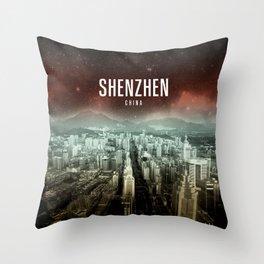 Shenzhen Wallpaper Throw Pillow