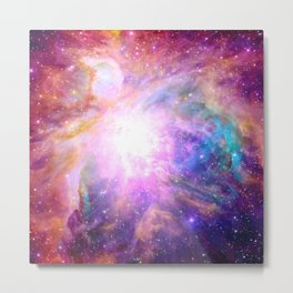 Space and Stars Galaxy Nebula Metal Print