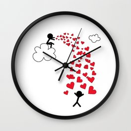 Love from the sky by Oliver Henggeler Wall Clock