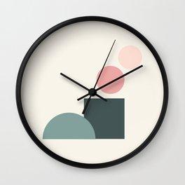 Modern geometric abstract 14 - factory pattern Wall Clock