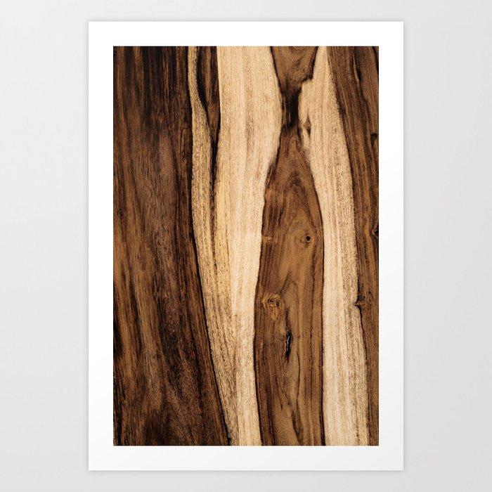 Sheesham Wood Grain Texture, Close Up Kunstdrucke