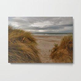 Bamburgh Beach Metal Print
