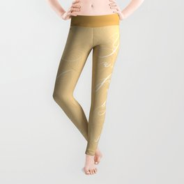 You will find me by the sea (Beige) Leggings