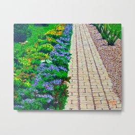 Garden Path At Colonial Williamsburg Metal Print