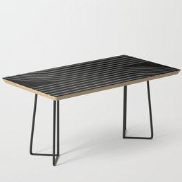 Minimal Line Curvature - Black and White II Coffee Table