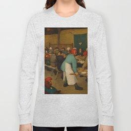 "Pieter Bruegel (also Brueghel or Breughel) the Elder ""The Peasant Wedding"" Long Sleeve T-shirt"