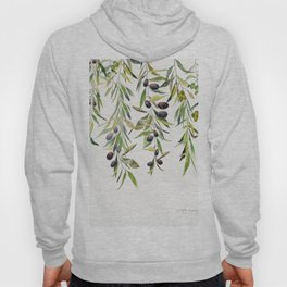 Olive Branch Watercolor  Hoody