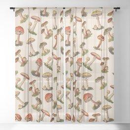 Magical Mushrooms Sheer Curtain