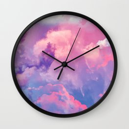 DREAMER Pastel Clouds Wall Clock