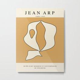 Modern poster - Jean Hans Arp - Exposition 3. Metal Print