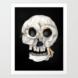 Tarot Reader Girl - Optical Illusion Skull Kunstdrucke