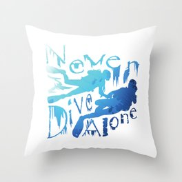 Dive For Two | Always Diving with a Partner Throw Pillow