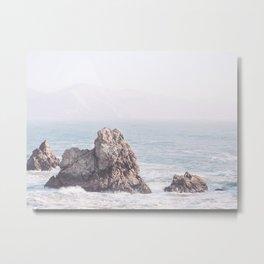 Pale Pacific - Ocean Landscape, Nature Photography Metal Print