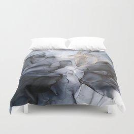 Calm but Dramatic Light Monochromatic Black & Grey Abstract Bettbezug