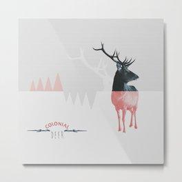 Colonial Deer Metal Print