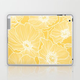Sunshine Yellow Poppies Laptop & iPad Skin